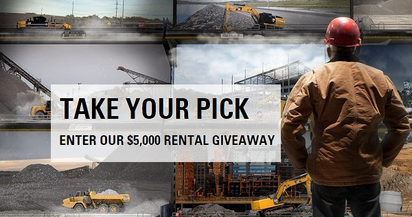 Cat Take Your Pick Rental Sweepstakes