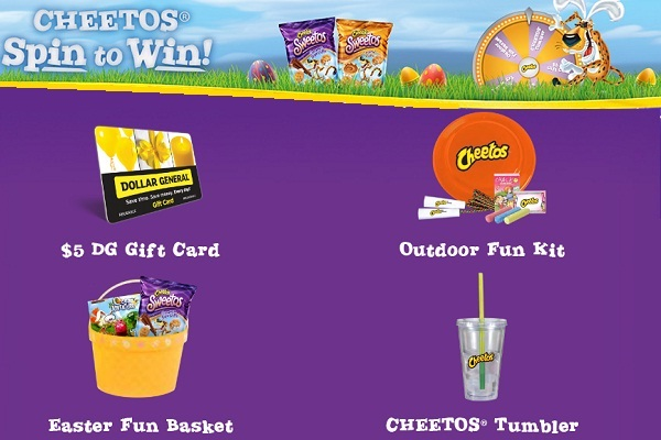 Cheetos Easter Spin To Win Game at Dollar General Instant