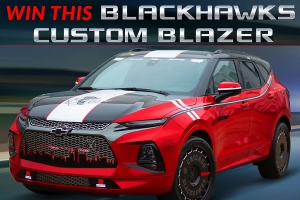 Chevy Blackhawks Themed Blazer Giveaway: Win A Custom Car