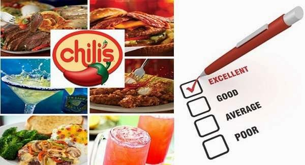 Go Chili's Survey Sweeps to win $1000