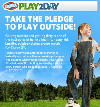 Take The Pledge to Play Outside with Clorox