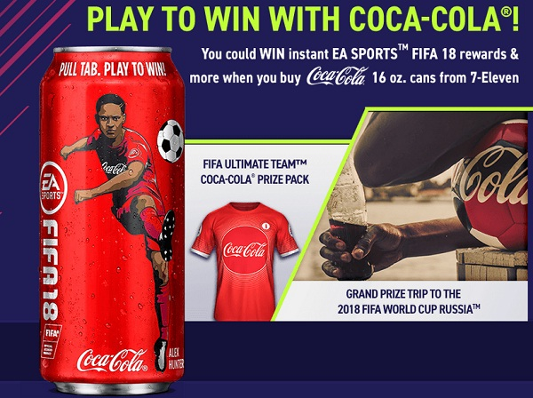 mycokerewards sweepstakes winners coca cola and 7 eleven ea sports fifa 18 instant win 2054