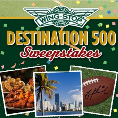 Coca Cola & Wing Stop: Destination 500 Sweepstakes