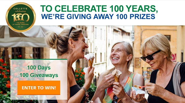 Collette 100 Days of Giveaways: Win Free Trip Worth $10000