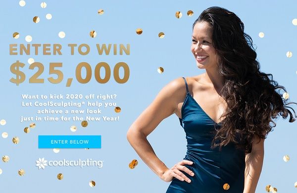 CoolSculpting New Year Sweepstakes: Win $25000 Cash
