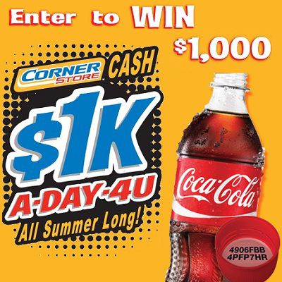 Win $1000 in Corner Store Cash Giveaway