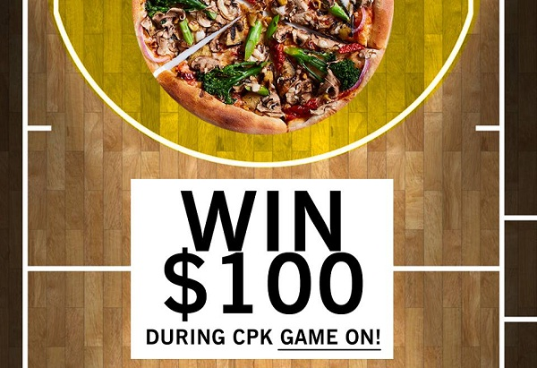 California Pizza Kitchen CPK Game on Sweepstakes