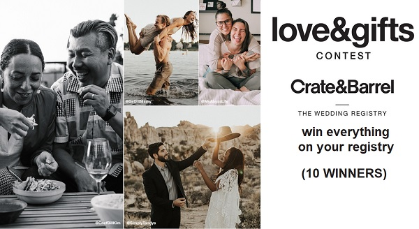 Crate and Barrel Love & Gifts Contest (10 Winners)