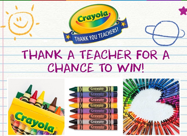 Crayola.com Thank a Teacher Sweepstakes