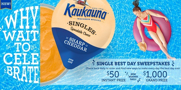 Kaukauna Single Best Day Sweepstakes: Win Visa Gift Cards