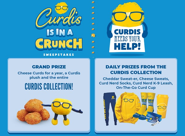 Curdis is in a Crunch Sweepstakes