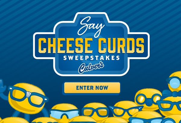 Culver's Say Cheese Curds Sweepstakes (3500+ Winners)