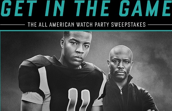 Cwtv.com All American Watch Party Sweepstakes