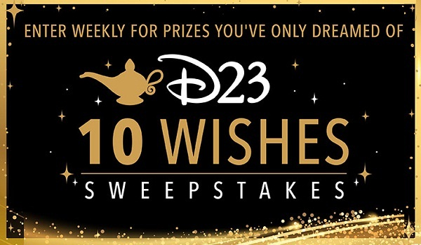 D23.com 10 Wishes Sweepstakes