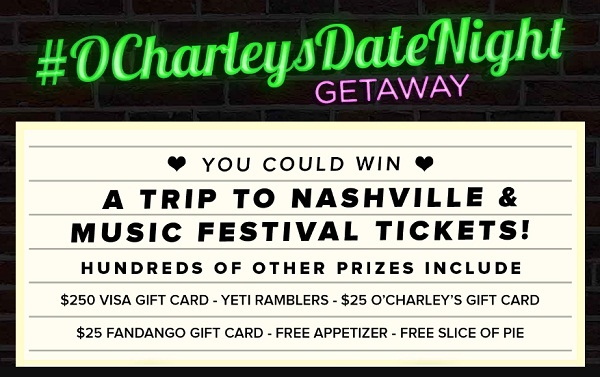 O'Charleys Date Night Sweepstakes and Instant Win Game