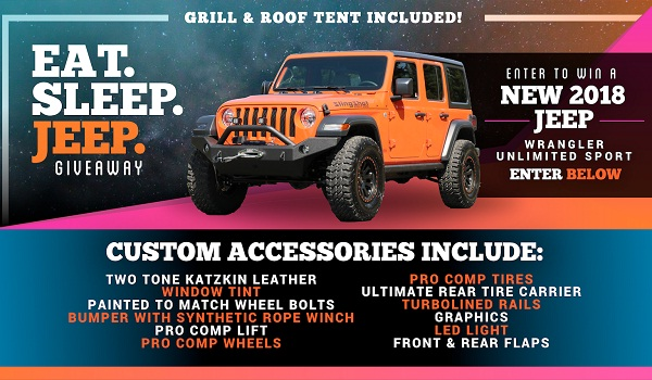 Dave Smith Motors EAT. SLEEP. JEEP. Giveaway