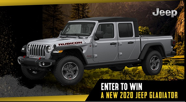 Davesmith.com Great Jeep Gladiator Giveaway