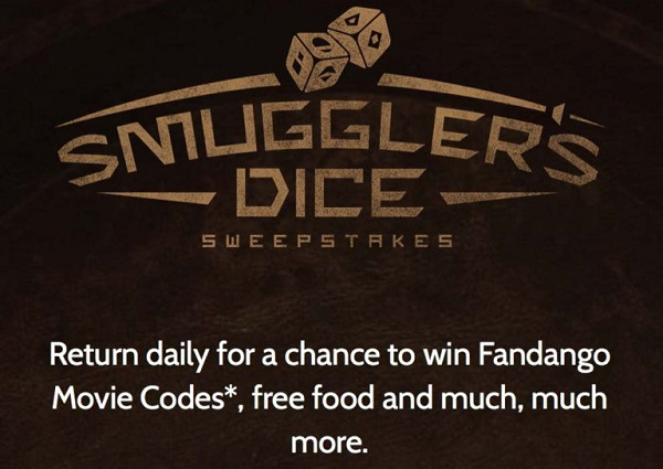 Denny's Smuggler's Dice Sweepstakes and Instant Win Game