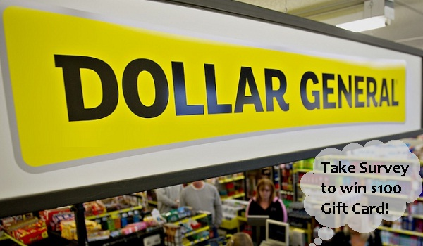 Dollar General Customer Survey Sweepstakes on