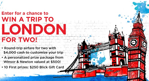 Dick Blick Art Materials London Travel Sweepstakes