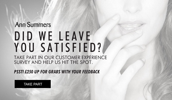 Ann Summers Customer Survey Contest: Win £250 Gift Card