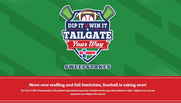 Dip it 2 Win it Sweepstakes 2018: Win Samsung LED Smart TV