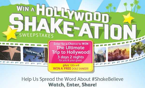 Win a Hollywood Shake-ation Promotion