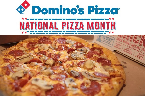 Domino's National Pizza Month Giveaway: Win $50 Gift Card