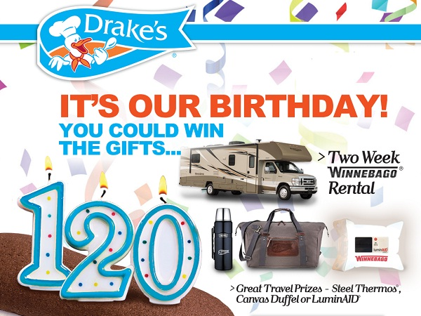Drake's Cake 120th Anniversary Promotion