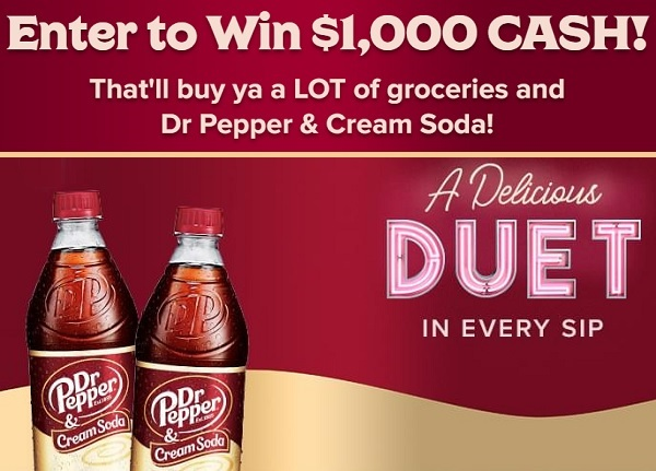 Gift Card Sweepstakes on DrPepperCreamSodaSweeps.com