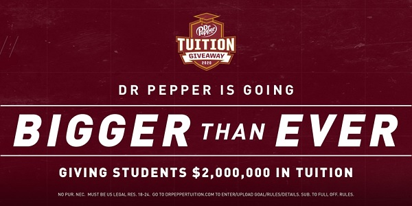 2019 Dr Pepper Tuition Giveaway: Win up to $100,000 in Tuition