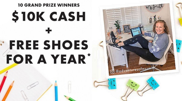 DSW Celebrating Teachers Sweepstakes (60 Winners)