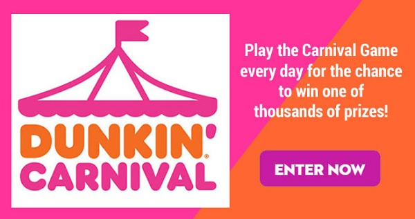 Dunkin' Carnival Sweepstakes and Instant Win Game