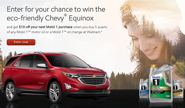 Mobil 1 Earth Day Drive Away Sweepstakes: Win 2018 Chevy Equinox
