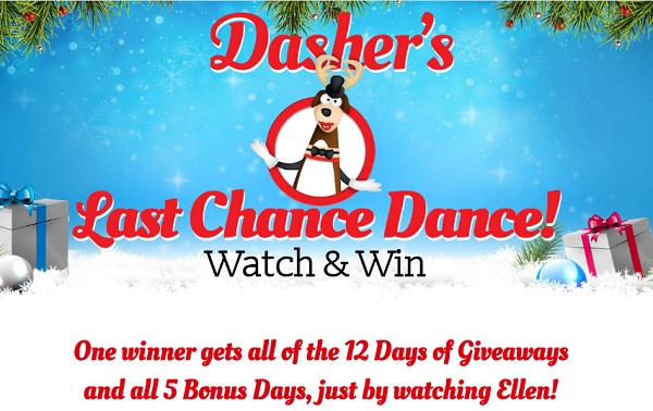 ellen degeneres is not ended with the 12 days of giveaways 2016 now watch the the ellen degeneres show daily through 2nd january and look for dasher to
