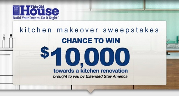 The This Old House Extended Stay America Kitchen Makeover Sweepstakes |  SweepstakesBible