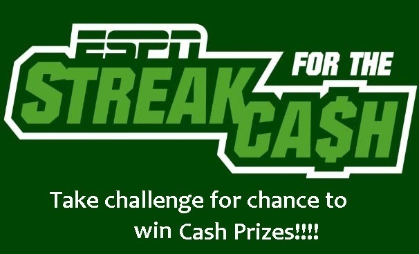 ESPN Streak for Cash Sweepstakes 2020