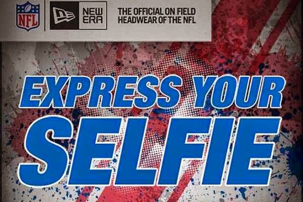 Express your selfie to win a trip to an NFL Game