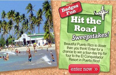 Disney: Badges of Fun Hit the Road Sweepstakes