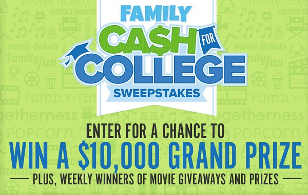 Fandango Cash for College Sweepstakes