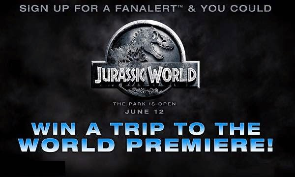 Win a trip to World Premiere of Jurassic World with Fandango