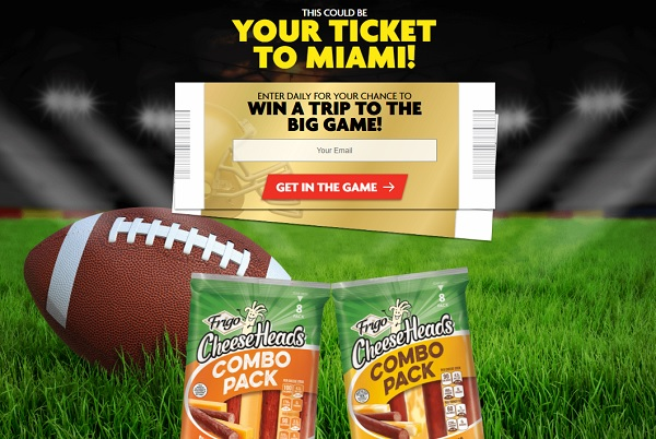 Frigo Cheese Heads Sweepstakes