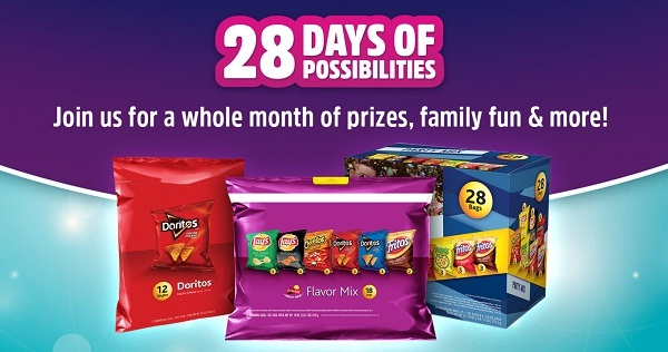 Frito-Lay 28 Days Of Possibilities Sweepstakes on Flvp28days