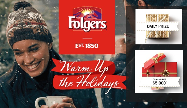 Folgers Wakin' Up Club Warm Up the Holidays Promotion
