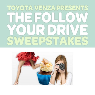 Win 5K with Toyota Venza Follow Your Drive Sweepstakes