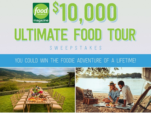 Food Network Magazine $10000 Dream Big Sweepstakes