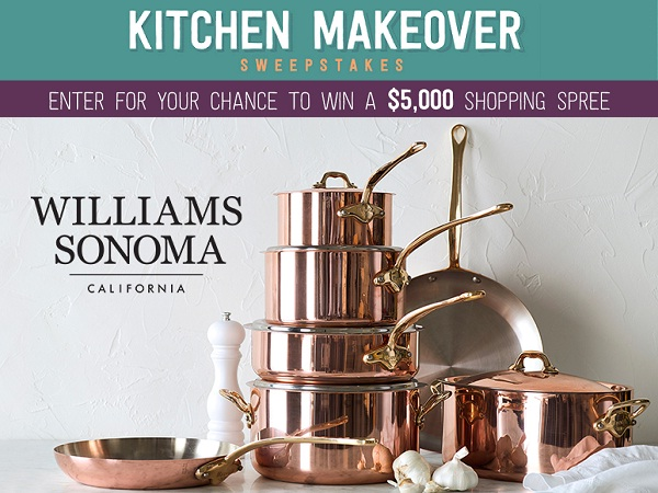 Foodnetwork.com Williams Sonoma Kitchen Makeover Sweepstakes