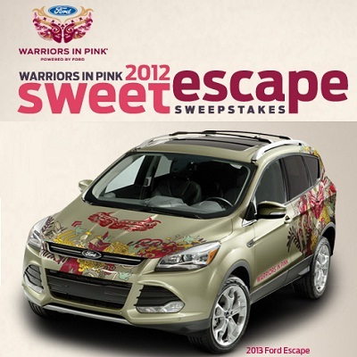 Win 2013 Ford Escape in Warriors in Pink 2012 Sweet Escape Sweepstakes