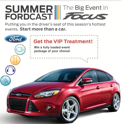 Fordcast Tour Sweepstakes