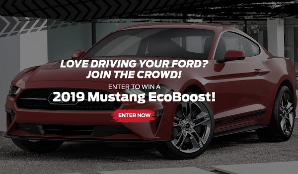 Ford Performance Club Connect Sweepstakes: Win 2019 Mustang Ecoboost!